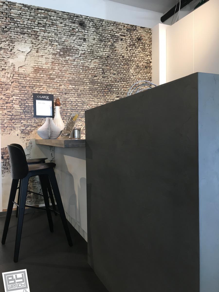 Betoneffect, showroom,  Kvik, woonboulevard