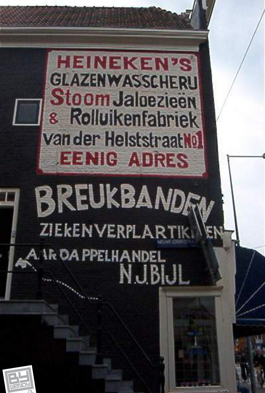 Vijzelgracht 37 Gevelreclame Amsterdam
