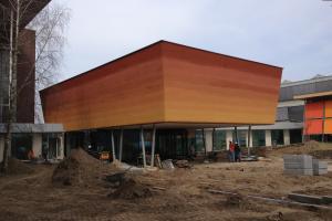 buitengevel kleurverloop grondmonstercentrum Wageningen